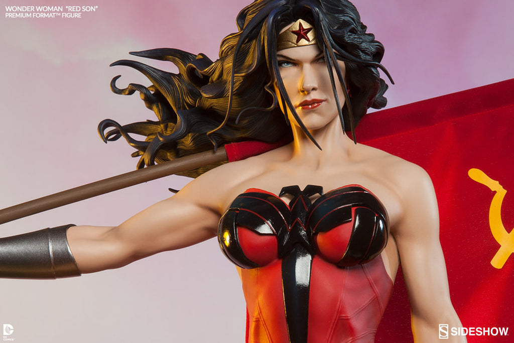 Wonder Woman Red Son 1/4th Scale Premium Format Figure by Sideshow Collectibles-Sideshow Collectibles- www.superherotoystore.com-Statue - 2