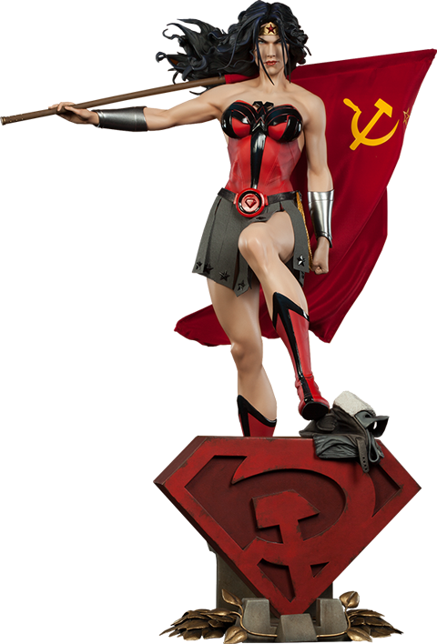 Wonder Woman Red Son 1/4th Scale Premium Format Figure by Sideshow Collectibles-Sideshow Collectibles- www.superherotoystore.com-Statue - 1