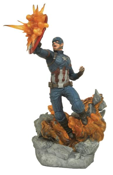 Marvel Milestones Statues - Captain America 3 Movie Civil War - Captain America by Diamond Select