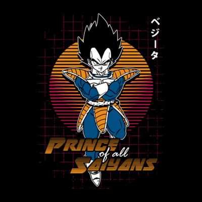 Prince Of All Saiyans - Dragon Ball Z Official T-Shirt -Red Wolf - India - www.superherotoystore.com
