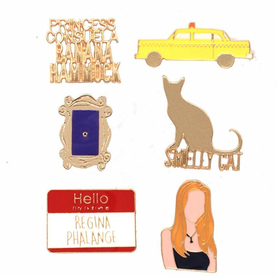 Friends Phoebe Enamel Pin Set -EFG - India - www.superherotoystore.com