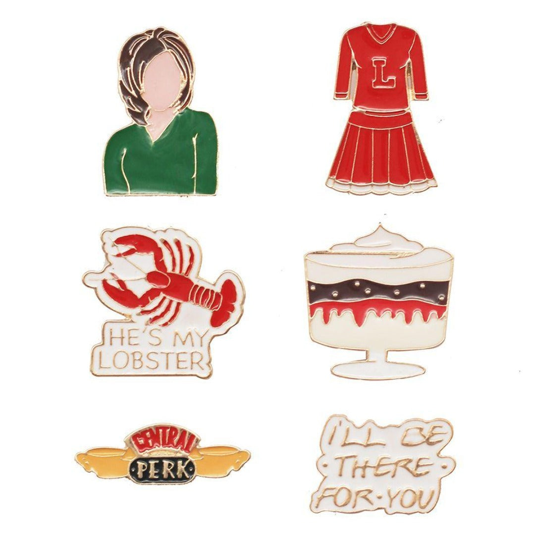 Friends Rachel Enamel Pin Set -EFG - India - www.superherotoystore.com