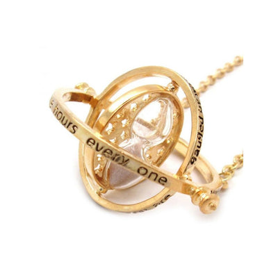 Harry Potter Gold Time Turner (Big) Necklace by EFG -EFG - India - www.superherotoystore.com