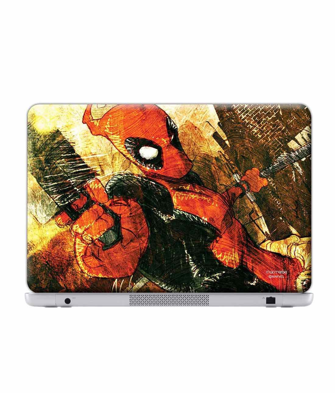 Deadpool Attack Laptop Skin by Macmerise -Macmerise - India - www.superherotoystore.com