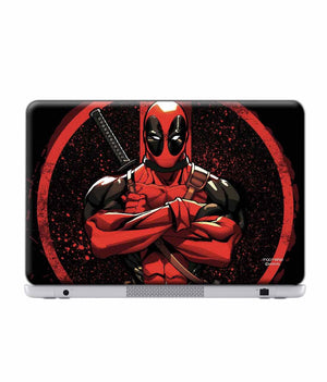 Deadpool Stance Laptop Skin by Macmerise