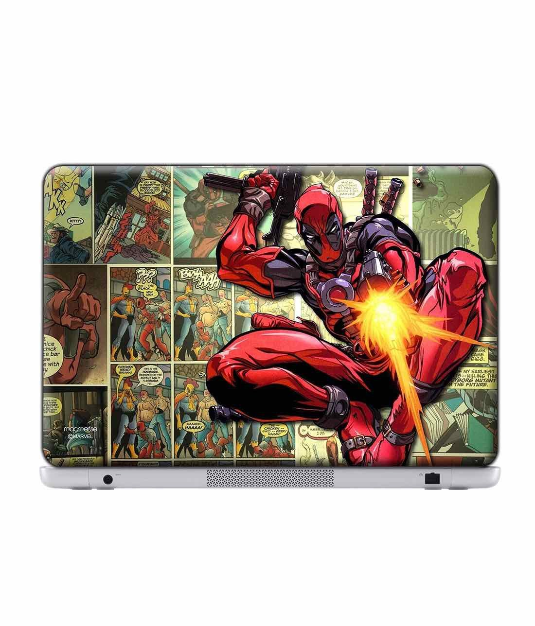 Deadpool takes Aim Laptop Skin by Macmerise