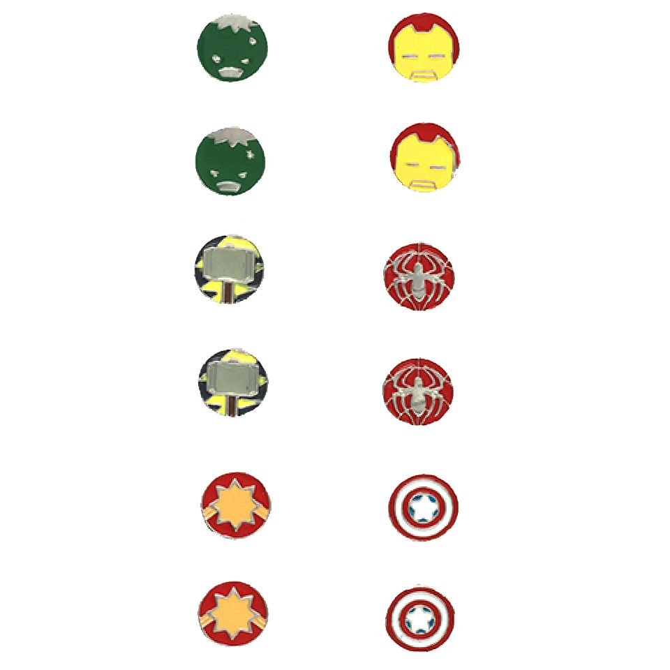 Avengers Kawaii Earring (Set of 6) by EFG -EFG - India - www.superherotoystore.com