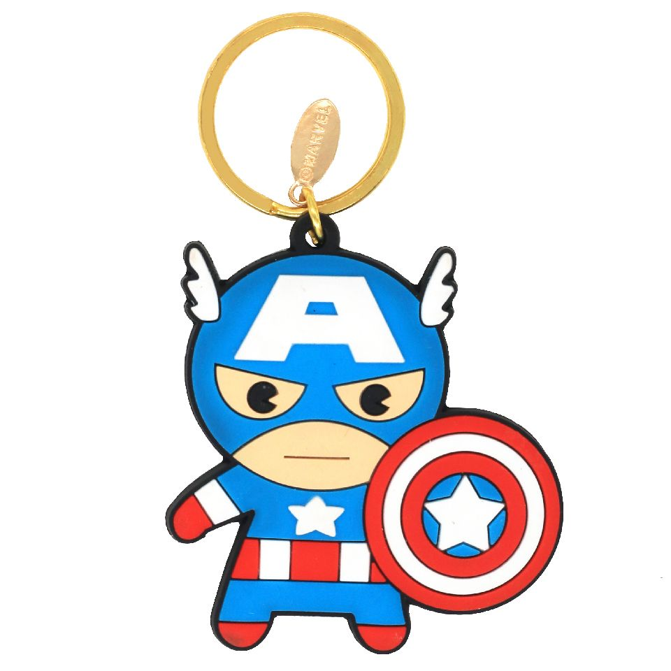 Captain America Rubber Keychain by EFG -EFG - India - www.superherotoystore.com