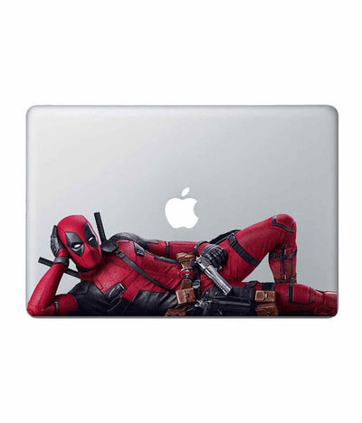 Deadpool Pose Laptop Decal by Macmerise