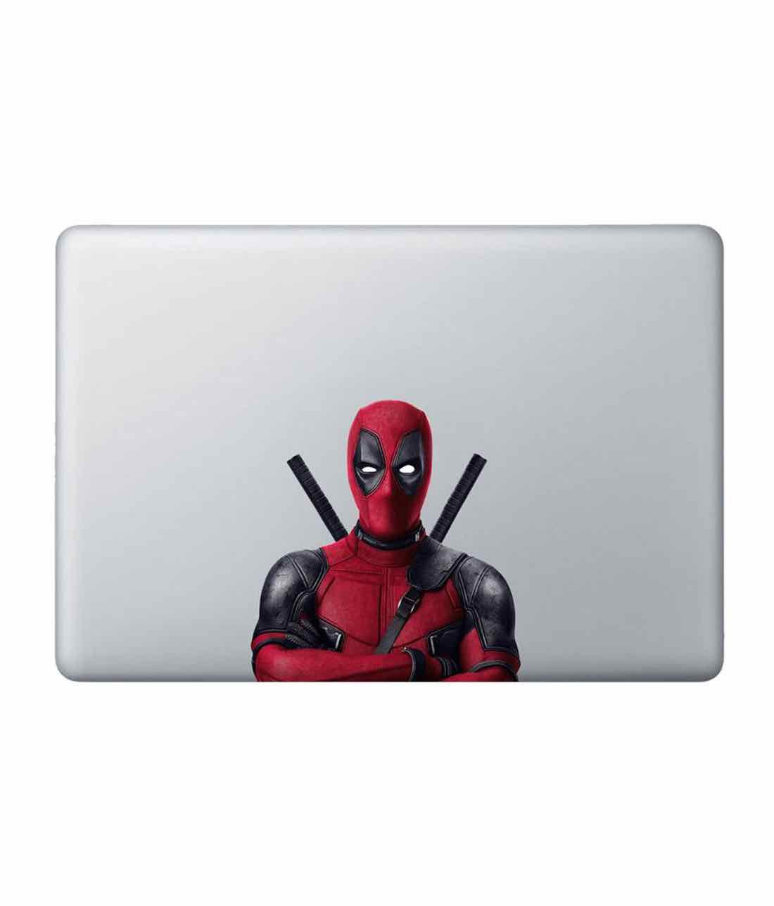 Deadpool Stance Laptop Decal by Macmerise -Macmerise - India - www.superherotoystore.com