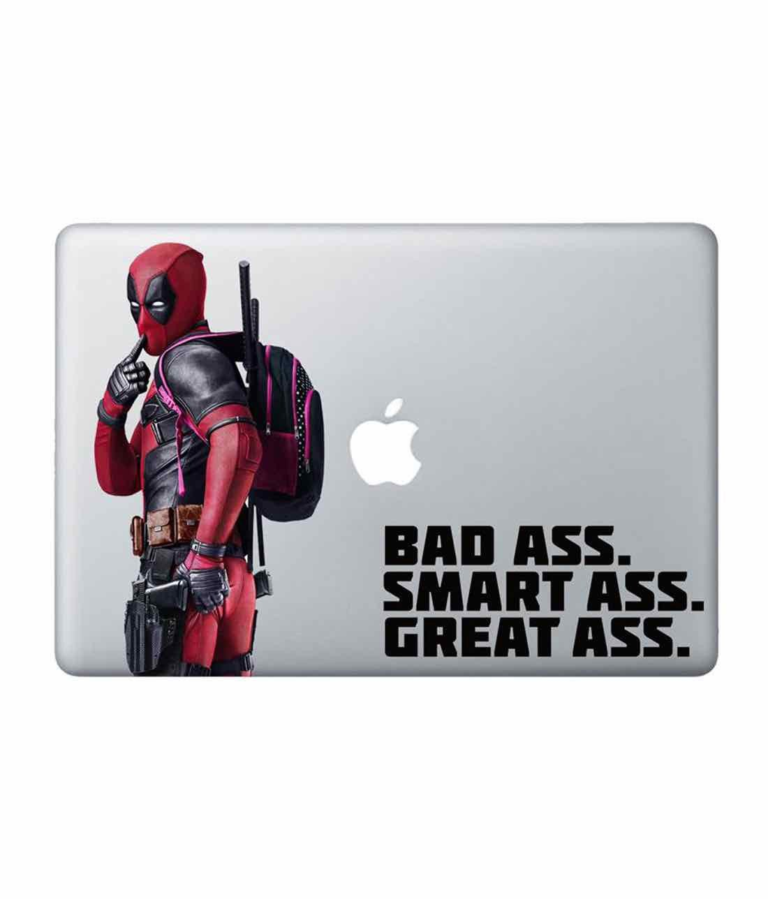 Smart Ass Deadpool Laptop Decal by Macmerise -Macmerise - India - www.superherotoystore.com