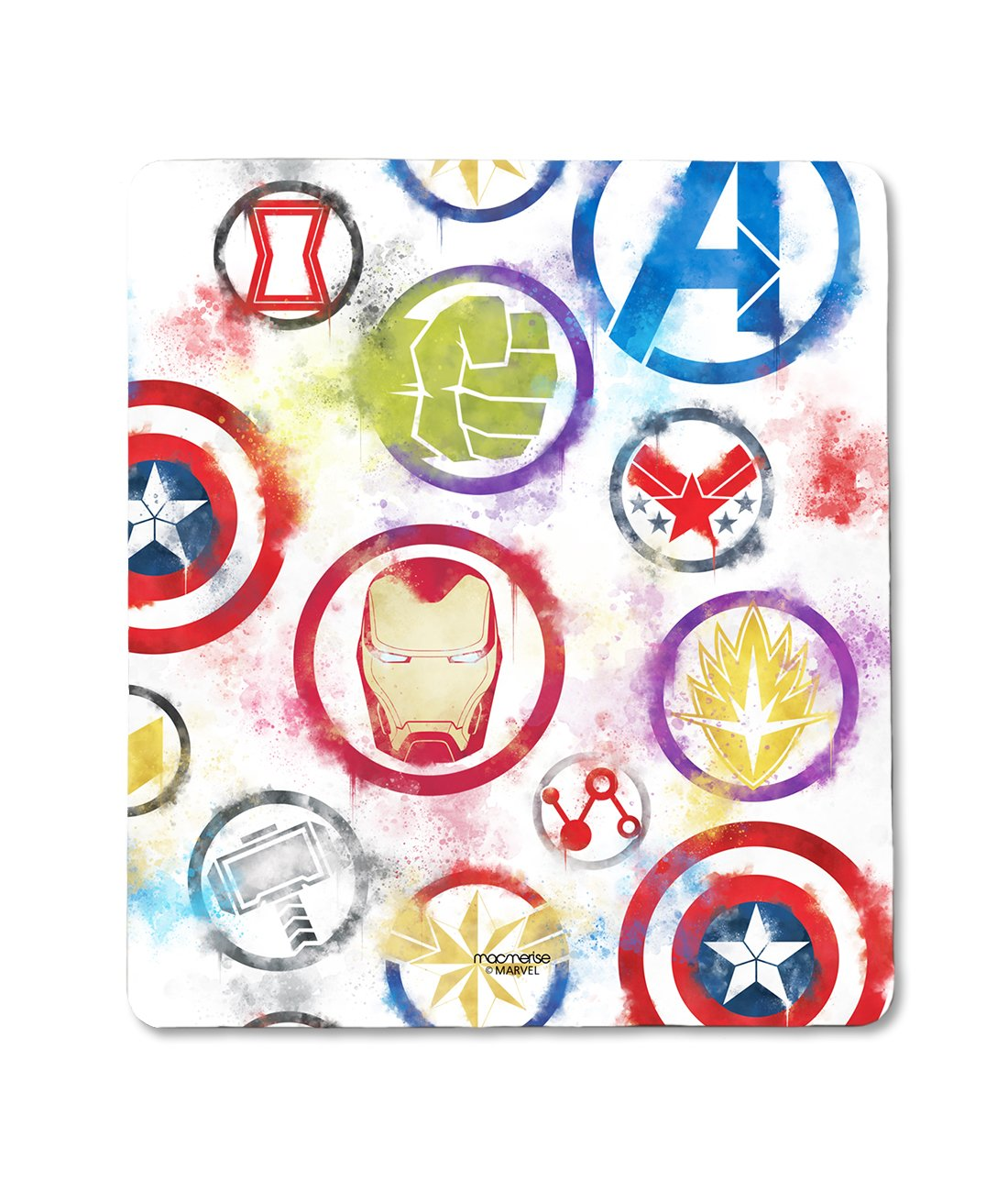 Avengers Icons Graffiti - Mouse Pad by Macmerise -Macmerise - India - www.superherotoystore.com