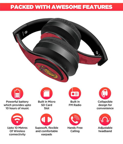 Crest Gryffindor - Decibel Wireless On Ear Headphones -Macmerise - India - www.superherotoystore.com