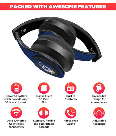 Crest Ravenclaw - Decibel Wireless On Ear Headphones -Macmerise - India - www.superherotoystore.com