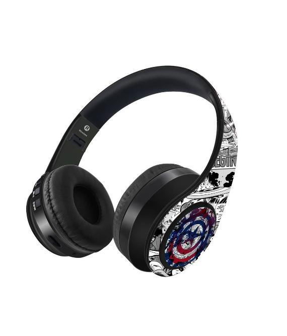 Captain America- Splash Out Shield Decibel Wireless On Ear Headphones -Macmerise - India - www.superherotoystore.com