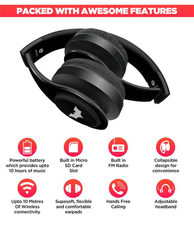 The Dark Knight - Decibel Wireless On Ear Headphones -Macmerise - India - www.superherotoystore.com