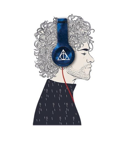Harry Potter The Deathly Hallows - Wave Wired On Ear Headphones