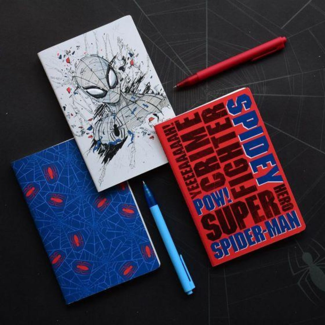 Spider-Man (Set of 3) Notebook -Doodle Collection - India - www.superherotoystore.com