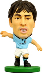David Silva - Manchester City Home Kit-Soccer Starz- www.superherotoystore.com-Action Figure - 1
