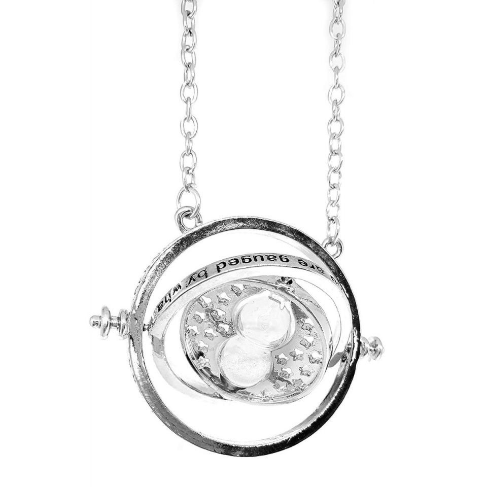 Harry Potter Time Turner (Silver) Necklace by EFG -EFG - India - www.superherotoystore.com