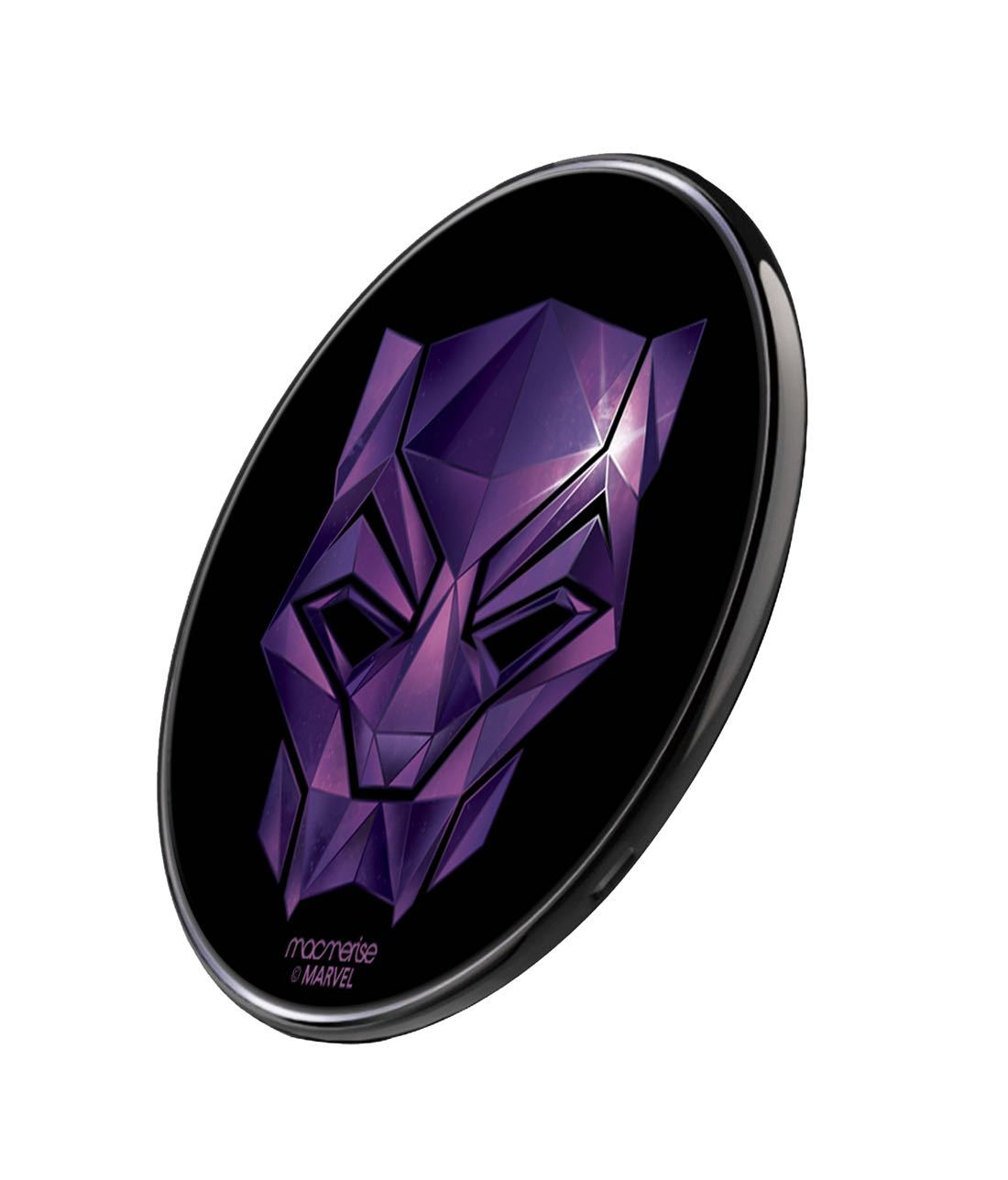 Black Panther Logo Wireless Charger by Macmerise -Macmerise - India - www.superherotoystore.com