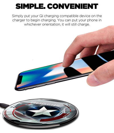 Captain America Steve Rogers Wireless Charger by Macmerise -Macmerise - India - www.superherotoystore.com