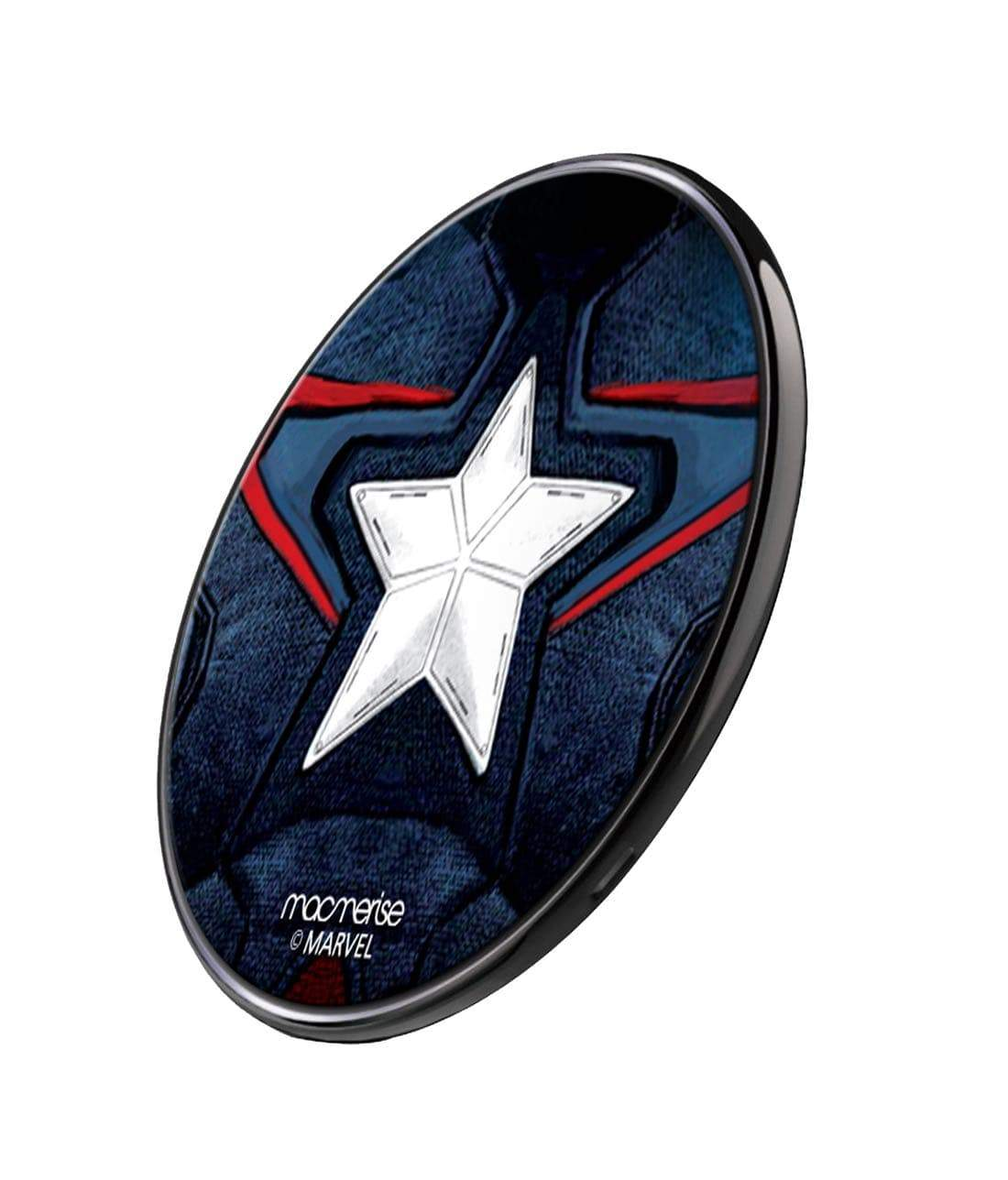 Captain America Suit Wireless Charger by Macmerise -Macmerise - India - www.superherotoystore.com