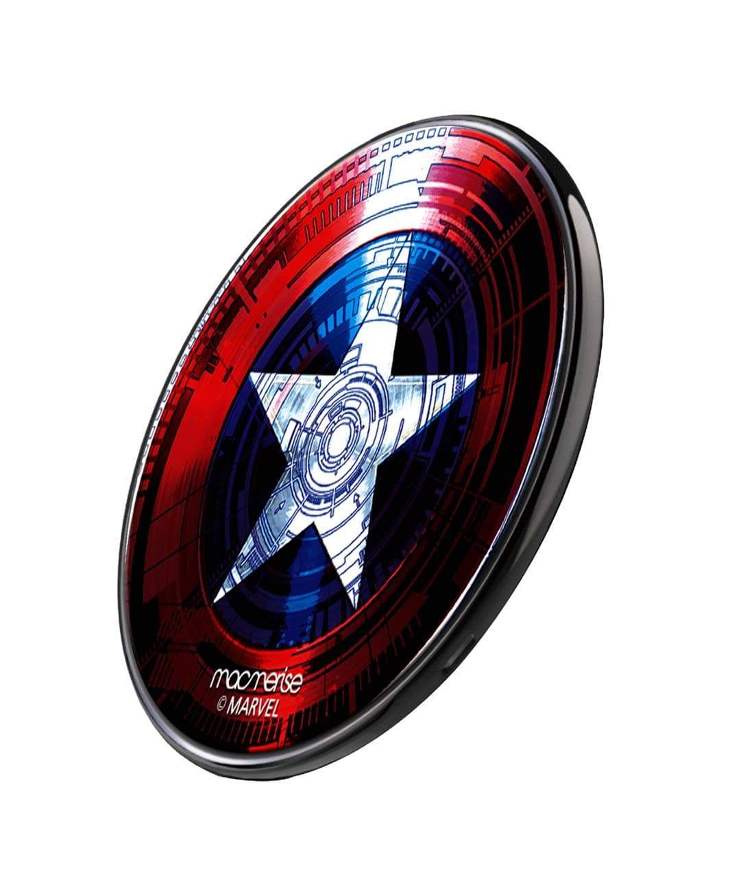 Captains Shield Decoded Wireless Charger by Macmerise -Macmerise - India - www.superherotoystore.com