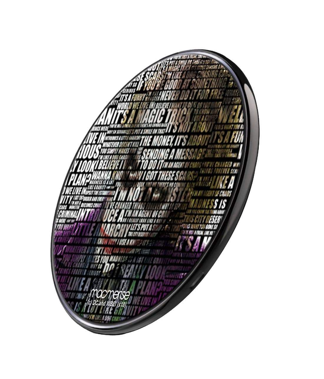 Joker Quote Wireless Charger by Macmerise -Macmerise - India - www.superherotoystore.com