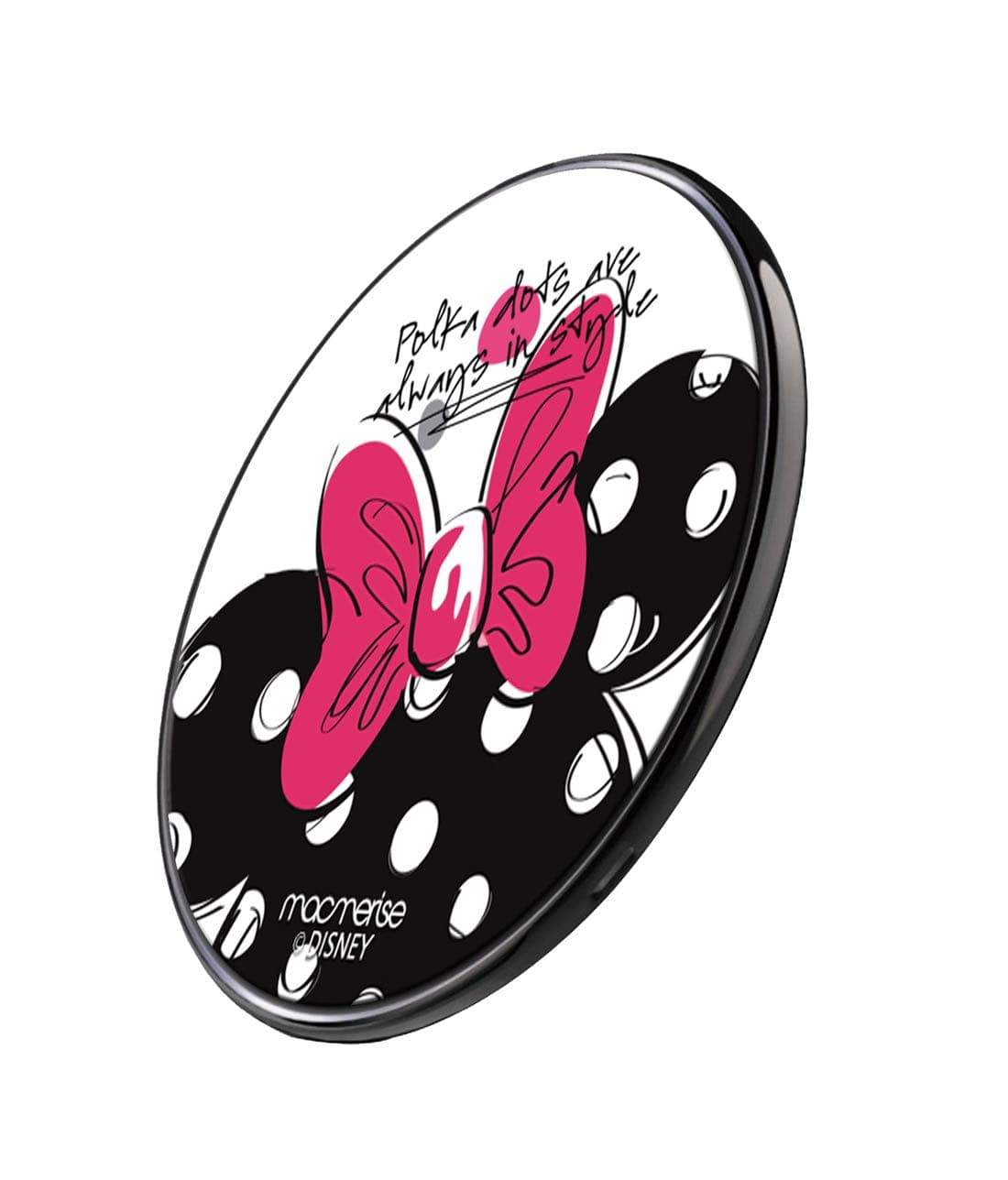 Polka Minnie Wireless Charger by Macmerise -Macmerise - India - www.superherotoystore.com