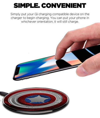 Stoned Shield Wireless Charger by Macmerise -Macmerise - India - www.superherotoystore.com