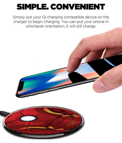 Suit of Armour Wireless Charger by Macmerise -Macmerise - India - www.superherotoystore.com