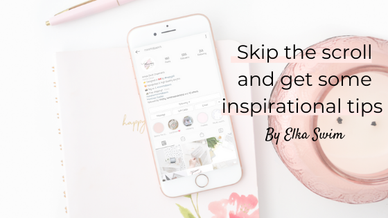 Skip the scroll and get some inspirational tips by Holly Spillane from Elka Swim
