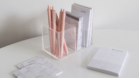 minima basics blog banner why should you buy acrylic desk organizers