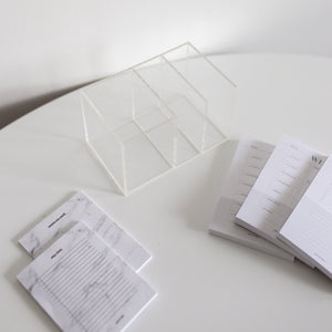 Acrylic pen and sticky notes organizer set - Minima Basics x Poi & Hun
