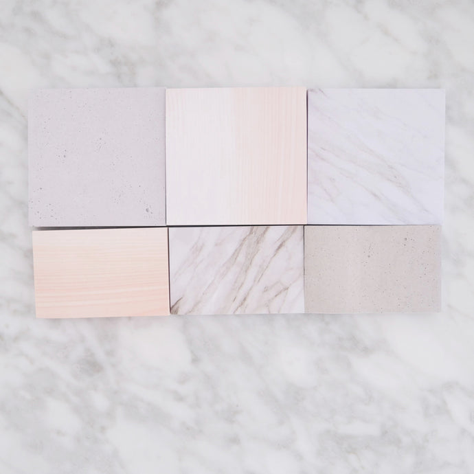 Marble memo sticky notes set