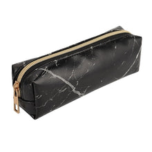 Load image into Gallery viewer, Marble mini pencil case with gold zipper