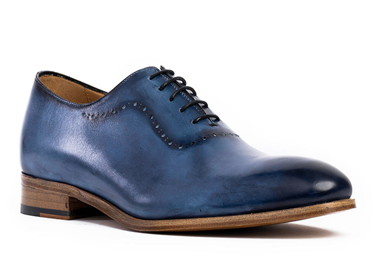 Spreza Brogue Wholecut in Vela Blue Nicol Patina