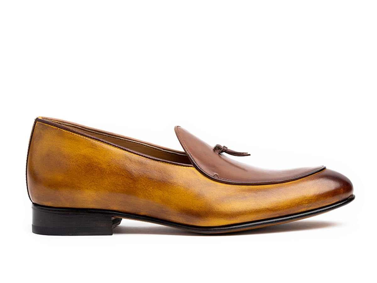 Giani Belgian Loafer in Bourbon Antique & Brown