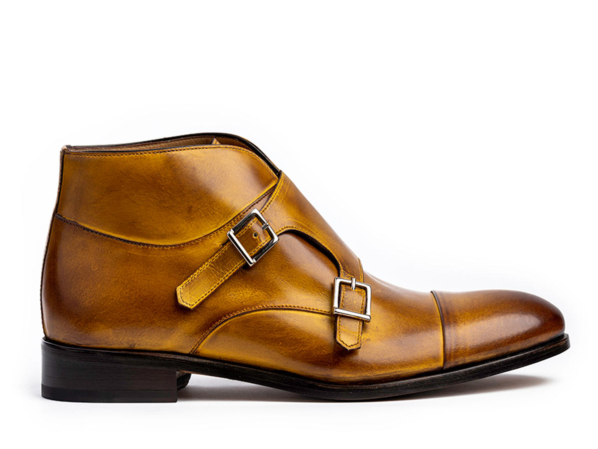 James Cap Toe Monkstrap in Bourbon Nicol
