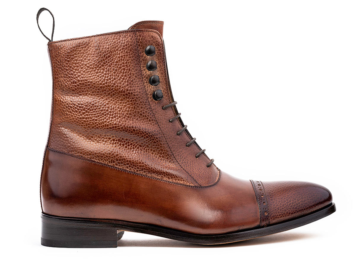 Bela Balmoral Boot in Brown Stamp & Brown Antique