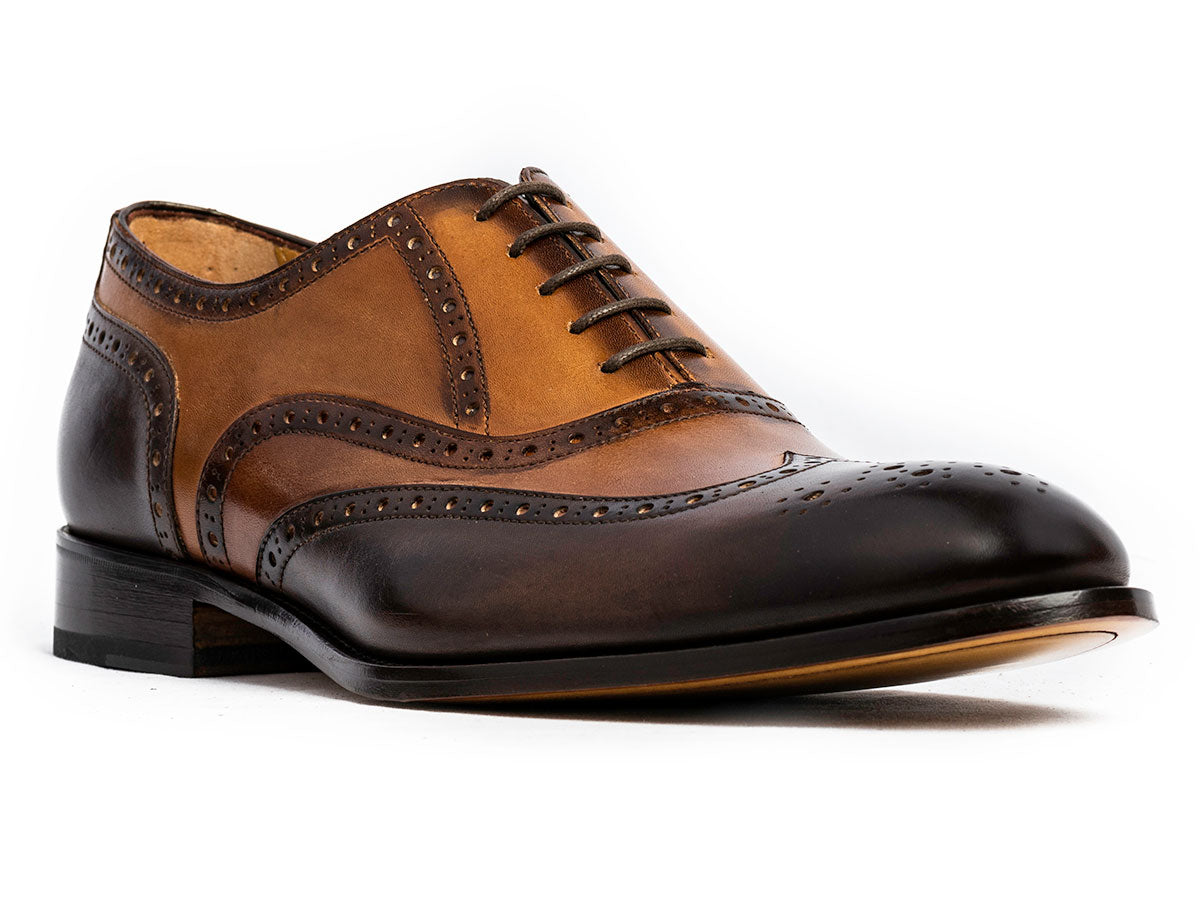 Albert Wingtip Oxford Dk. Brown, Brown & Cuoio