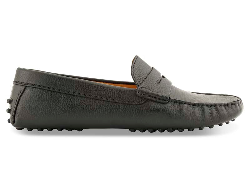 Santi Moccasin in Black Leather