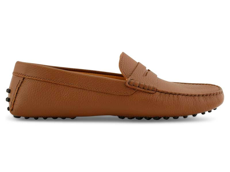 Santi Moccasin in Brandy Leather