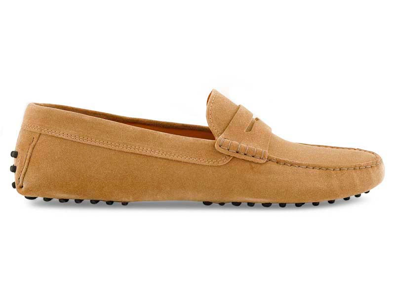 Santi Moccasin in Cuoio Suede