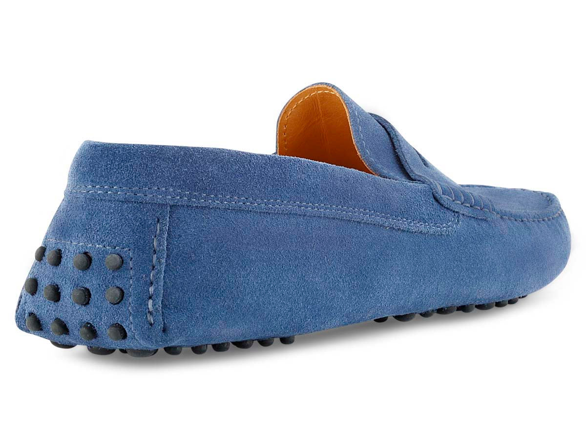 Santi Moccasin in Denim Suede