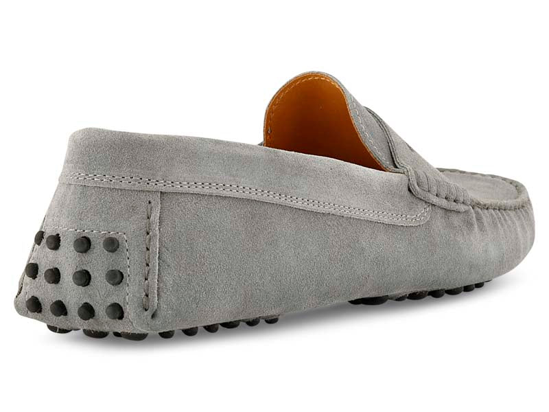 Santi Moccasin in Grey Suede