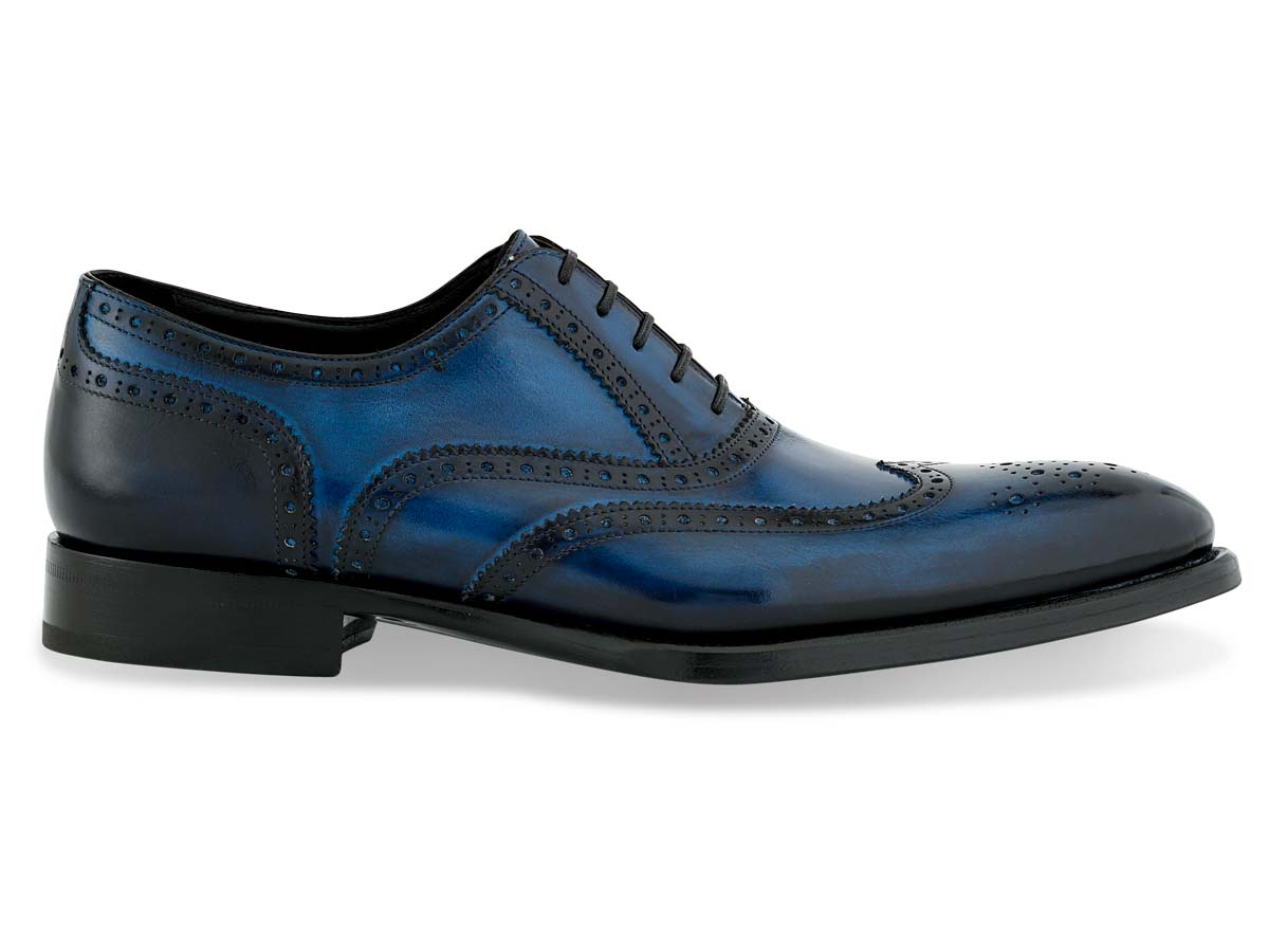 Isiah Oxford Wingtip in Blue Signature