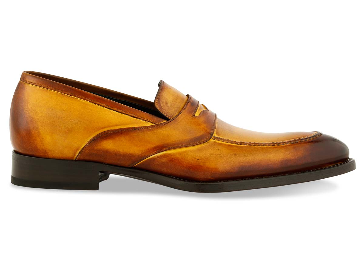 Shelby Penny Loafer in Bourbon Signature