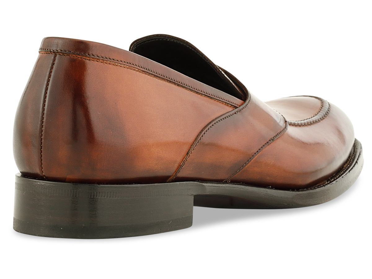 Shelby Penny Loafer in Cognac Signature